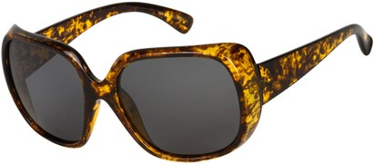 Angle of SW Polarized Oversized Style #4270 in Light Brown Tortoise Frame with Grey Lenses, Women's and Men's