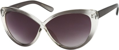 Angle of SW Cat Eye Style #6815 in Grey Fade Frame with Smoke Lenses, Women's and Men's