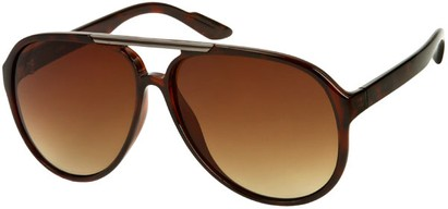Angle of SW Oversized Aviator #918 in Brown Tortoise Frame, Women's and Men's