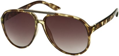 Angle of SW Oversized Aviator #918 in Green Tortoise Frame, Women's and Men's