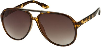 Angle of SW Oversized Aviator #918 in Yellow Tortoise Frame, Women's and Men's