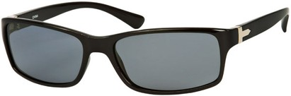 Angle of SW Polarized Style #1152 in Black Frame with Smoke Lenses, Women's and Men's