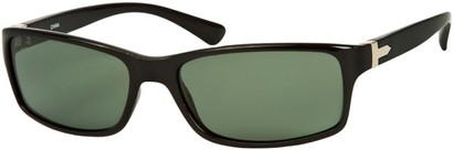 Angle of SW Polarized Style #1152 in Black Frame with Green Lenses, Women's and Men's