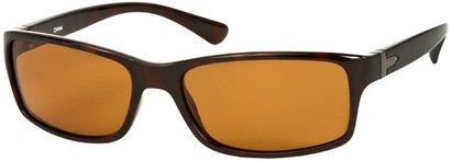 Angle of SW Polarized Style #1152 in Brown Tortoise Frame with Amber Lenses, Women's and Men's