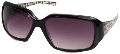 Angle of SW Fashion Style #3075 in Black and Clear Frame, Women's and Men's