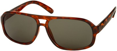 Angle of SW Vintage Aviator Style #3338 in Tortoise Frame with Green Lenses, Women's and Men's
