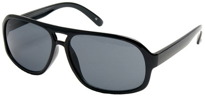 Angle of SW Vintage Aviator Style #3338 in Black Frame, Women's and Men's