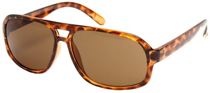Angle of SW Vintage Aviator Style #3338 in Tortoise Frame with Amber Lenses, Women's and Men's