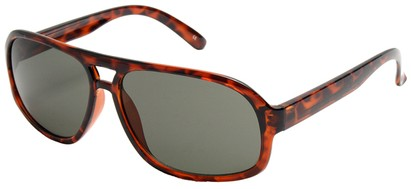 Angle of SW Vintage Aviator Style #3338 in Tortoise Frame with Smoke Lenses, Women's and Men's