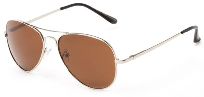 Angle of Reef in Silver Frame with Amber Lenses, Women's and Men's Aviator Sunglasses