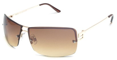 Angle of Cypress #8334 in Gold Frame with Amber Lenses, Women's and Men's Square Sunglasses