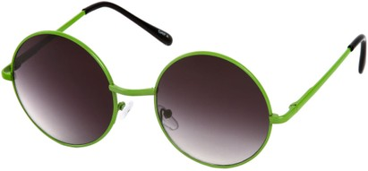 Angle of Sun Valley #481 in Neon Green Frame, Women's and Men's Round Sunglasses