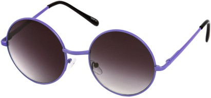 Angle of Sun Valley #481 in Neon Purple Frame, Women's and Men's Round Sunglasses
