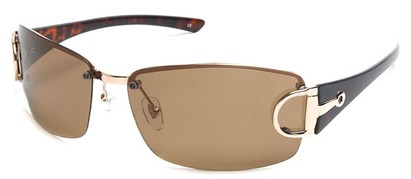 Angle of SW Polarized Style #207 in Gold , Women's and Men's