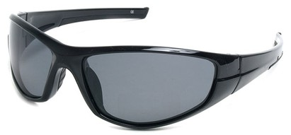 Angle of SW Polarized Style #55100 in Glossy Black with Smoke, Women's and Men's