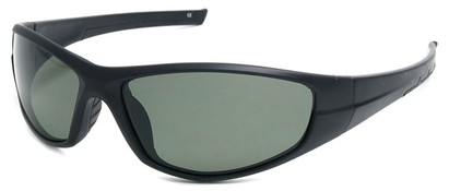 Angle of SW Polarized Style #55100 in Matte Black with Green, Women's and Men's