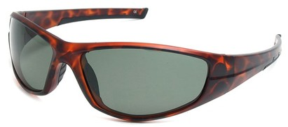 Angle of SW Polarized Style #55100 in Matte Tortoise with Green, Women's and Men's