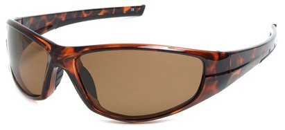 Angle of SW Polarized Style #55100 in Glossy Tortoise with Amber, Women's and Men's
