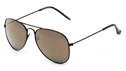 Angle of Ranch #3549 in Black Frame with Smoke Lenses, Women's and Men's Aviator Sunglasses