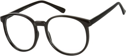 Angle of SW Clear Style #2904 in Black Frame, Women's and Men's