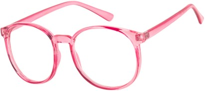 Angle of SW Clear Style #2904 in Pink Frame, Women's and Men's