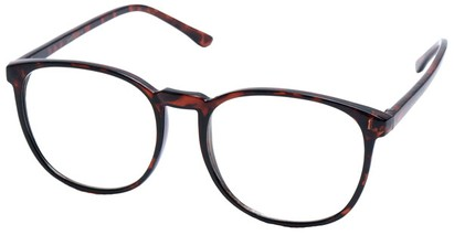 Angle of SW Clear Style #2904 in Tortoise Frame, Women's and Men's
