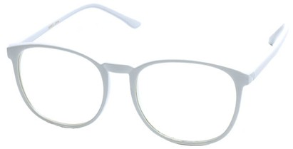 Angle of SW Clear Style #2904 in White Frame, Women's and Men's