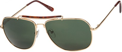 Square Aviators with Brow Bar