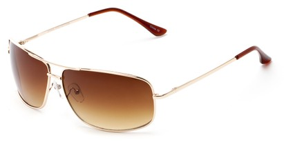 Angle of Nepal #3609 in Gold Frame with Amber Lenses, Women's and Men's Aviator Sunglasses