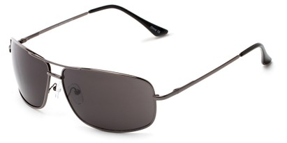 Angle of Nepal #3609 in Grey Frame with Grey Lenses, Women's and Men's Aviator Sunglasses