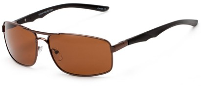 Angle of Ecuador #3640 in Bronze Frame with Amber Lenses, Women's and Men's Aviator Sunglasses