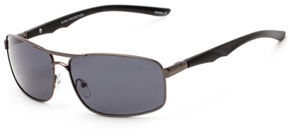 Angle of Ecuador #3640 in Grey Frame with Smoke Lenses, Women's and Men's Aviator Sunglasses