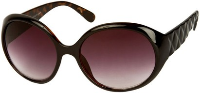 Angle of SW Round Style #1093 in Black with Tortoise (Inside), Women's and Men's