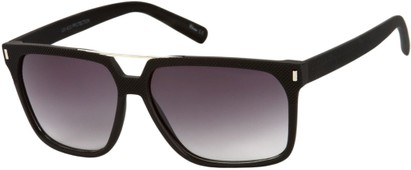 Angle of North Shore #276 in Black Frame with Grey Lenses, Women's and Men's Retro Square Sunglasses