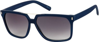 Angle of North Shore #276 in Blue Frame with Grey Lenses, Women's and Men's Retro Square Sunglasses