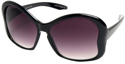 Angle of SW Animal Print Sunglasses #3780 in Black Frame, Women's and Men's