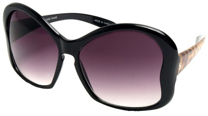 Angle of SW Animal Print Sunglasses #3780 in Black Giraffe Print Frame, Women's and Men's