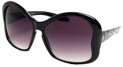 Angle of SW Animal Print Sunglasses #3780 in Black Zebra Print Frame, Women's and Men's