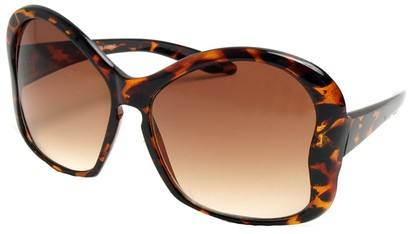 Angle of SW Animal Print Sunglasses #3780 in Tortoise Frame, Women's and Men's