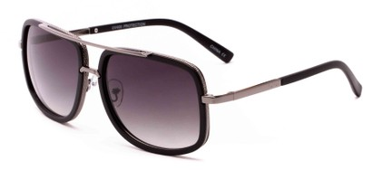 Angle of Camber #3794 in Matte Black/Grey Frame with Grey Lenses, Women's and Men's Aviator Sunglasses