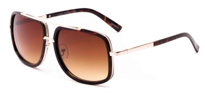 Angle of Camber #3794 in Tortoise/Gold Frame with Amber Lenses, Women's and Men's Aviator Sunglasses