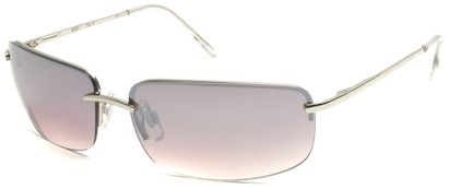 Angle of Flier #1196 in Silver Frame with Smoke Lenses, Women's and Men's Square Sunglasses