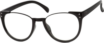 Angle of McLean #3911 in Black Frame with Clear Lenses, Women's and Men's Retro Square Sunglasses