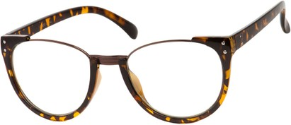 Angle of McLean #3911 in Tortoise Frame with Clear Lenses, Women's and Men's Retro Square Sunglasses