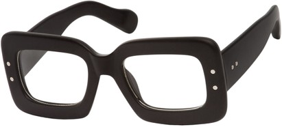 Angle of SW Nerd Style #7680 in Matte Black Frame, Women's and Men's