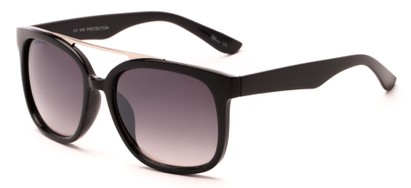 Angle of Achilles #38733 in Black Frame with Smoke Lenses, Men's Aviator Sunglasses