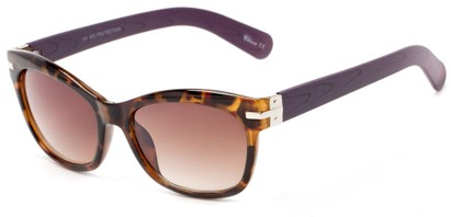 Angle of Holbrook #3906 in Tort/Purple Frame with Amber Lenses, Women's Square Sunglasses