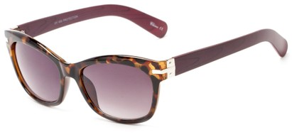 Angle of Holbrook #3906 in Tort/Wine Frame with Smoke Lenses, Women's Square Sunglasses