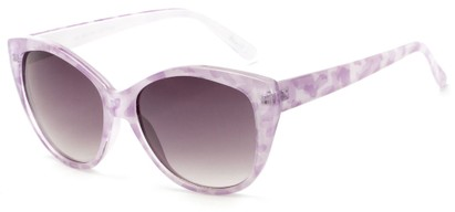 Angle of Shenandoah #3938 in Purple Watercolor Frame with Smoke Lenses, Women's Cat Eye Sunglasses