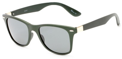 Angle of Gunnison #3944 in Green Metallic Frame with Grey Lenses, Women's and Men's Retro Square Sunglasses
